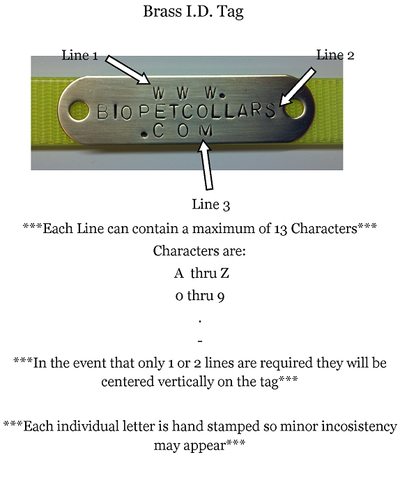 A smaller image of a brass nameplate instructions