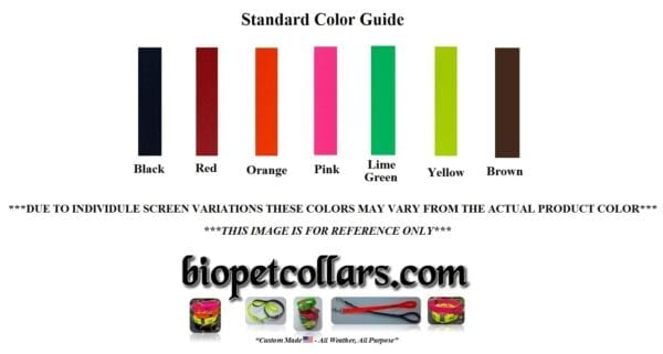 A standard color guide for the lead