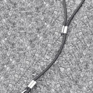 A short black leash