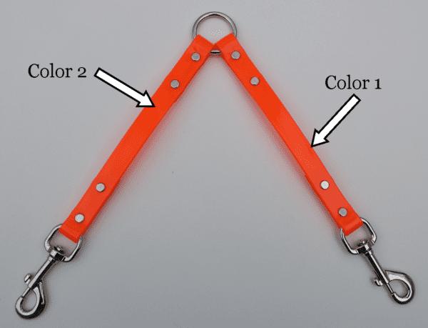 An orange leash splitter for the Beta series
