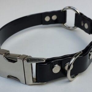 A black pet collar