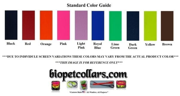 Color reference for the leash