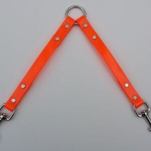 An orange pet collar