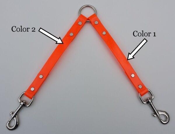 Color markings for an orange leash splitter